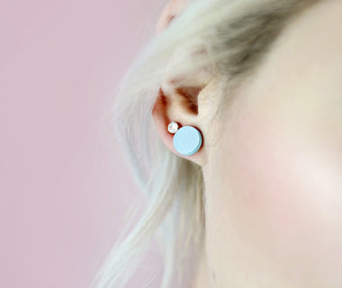 Dots Blue Earrings