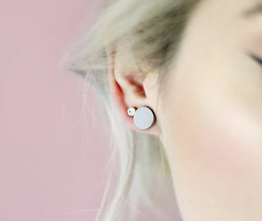 Dots Grey Earrings