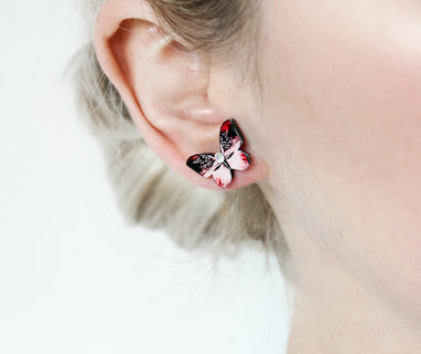 Queen of Hearts Butterfly Earrings