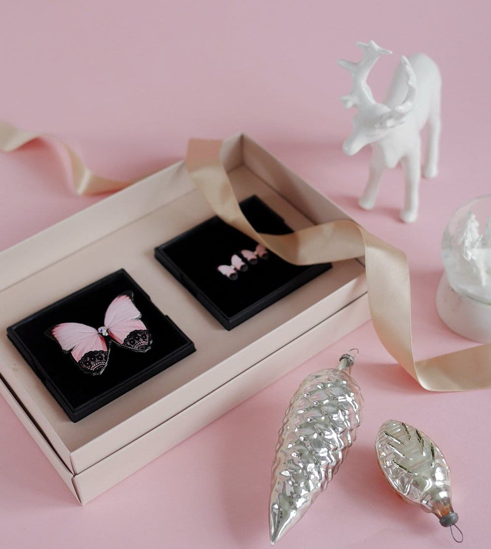 KUMA Gift Set II - Butterfly Brooch + Earrings - KUMA Design Store