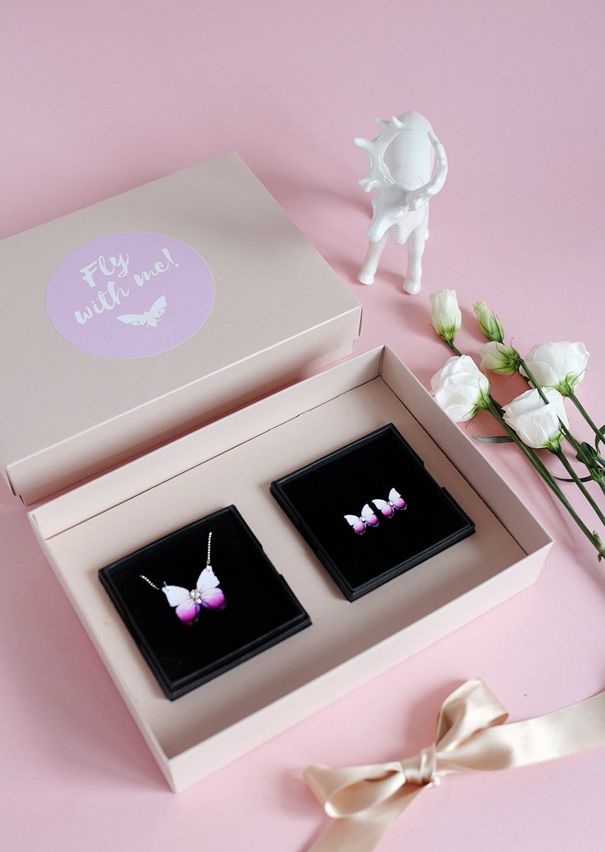 KUMA Gift Set I - Butterfly Necklace + Earrings - KUMA Design Store