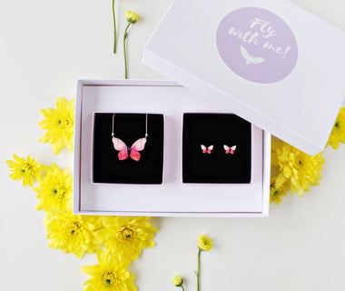 KUMA Gift Set II - Butterfly Necklace + Earrings