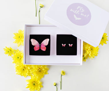 KUMA Gift Set XII - Butterfly Brooch + Earrings