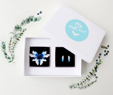 KUMA Gift Set XVII- Brooch + Earrings