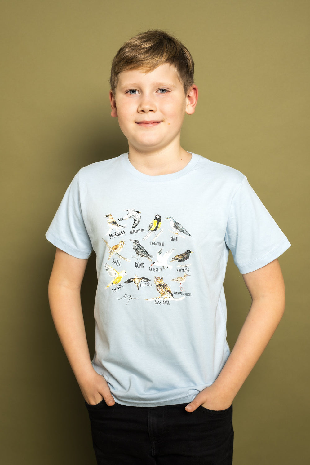 Birdies Kids t-shirt (light blue) - KUMA Design Store