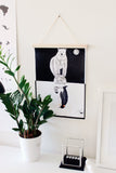 "Wall print ""Poolused"" by Mari Ojasaar (with print hangers) - KUMA Design Store"