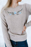 Icebreaker embroidered sweatshirt (beige)