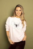 Butterfly embroidered sweatshirt - KUMA Design Store