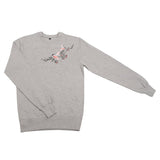 Dancing birds embroidered sweatshirt - KUMA Design Store