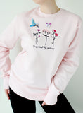 Pink Blossoms embroidered sweatshirt - KUMA Design Store