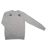 Singing birds unisex embroidered sweatshirt - KUMA Design Store