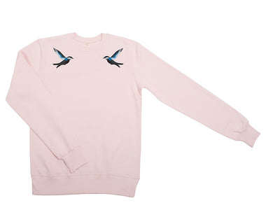 Singing birds unisex embroidered sweatshirt