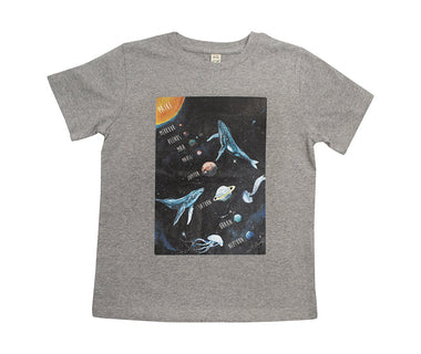 Planets Kids t-shirt (grey)