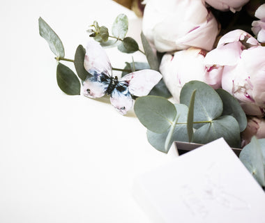 Flower bouquet + KUMA brooch