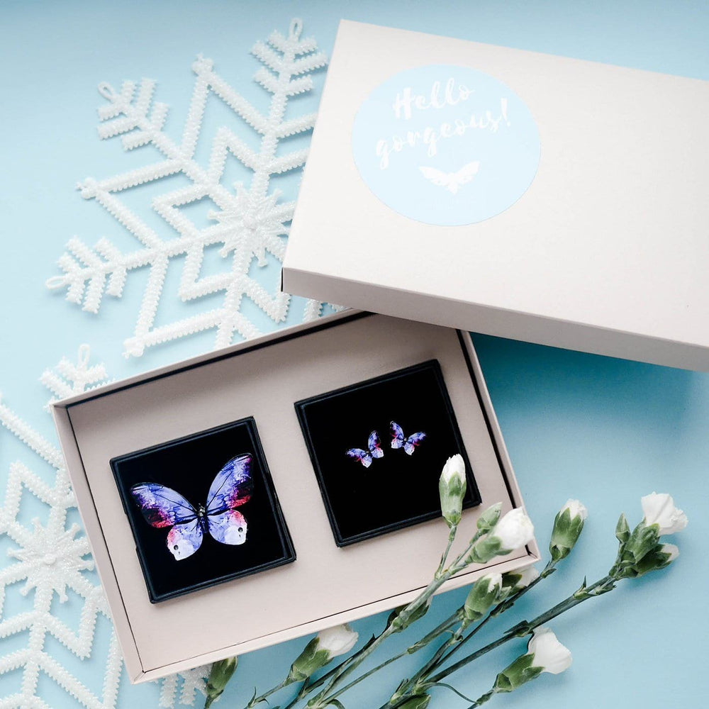 KUMA Gift Set III - Butterfly Brooch + Earrings - KUMA Design Store