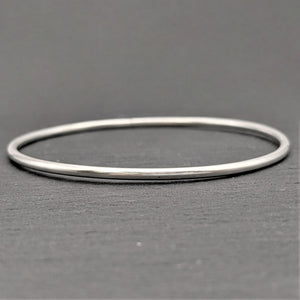 Pure Silver Karen Hill Tribe Plain Stacking Bangle