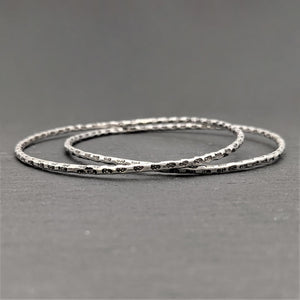 Pure Silver Karen Hill Tribe Thin Engraved Pattern Bangle