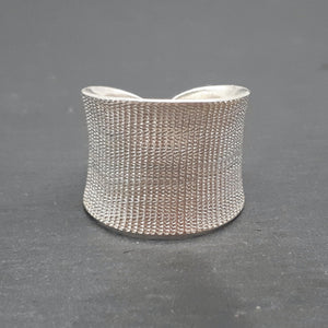 Pure Silver Karen Hill Tribe Satin Textured Adjustable Ring