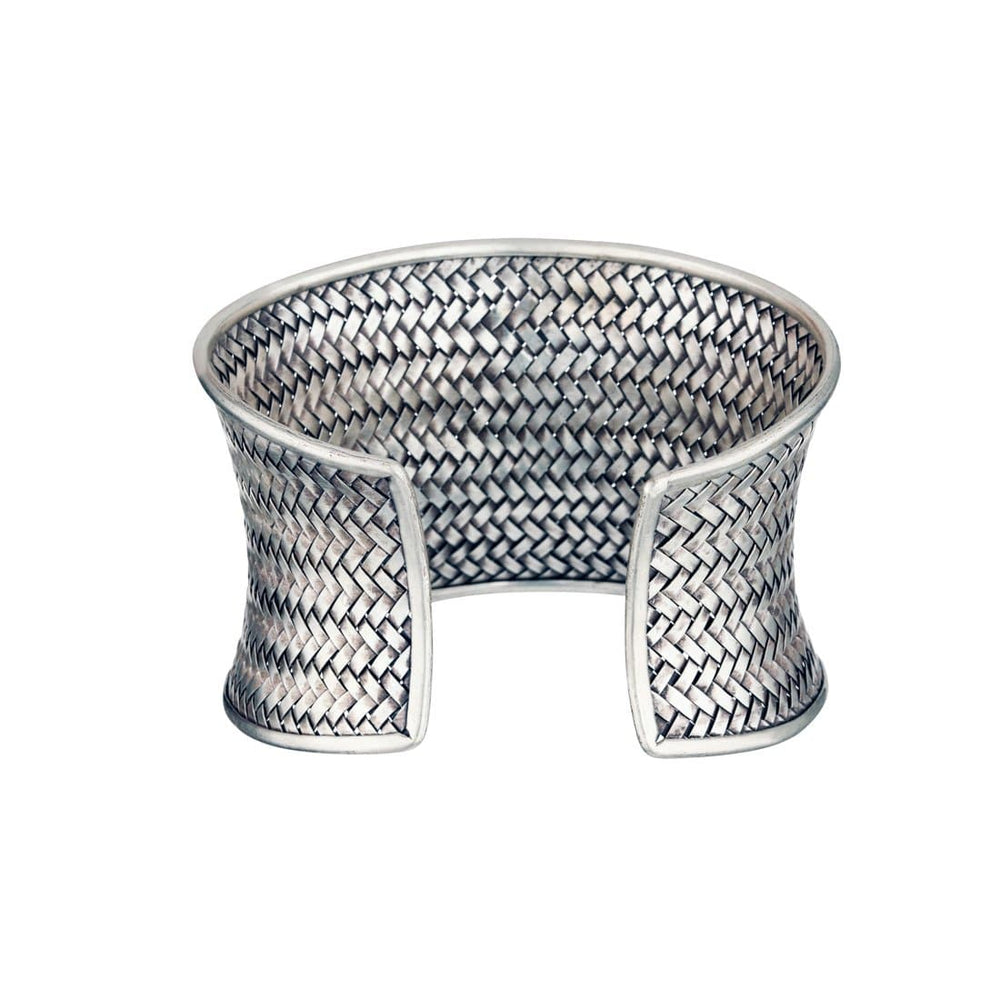 Load image into Gallery viewer, Pure Silver Karen Hill Tribe Woven Cuff Bangle