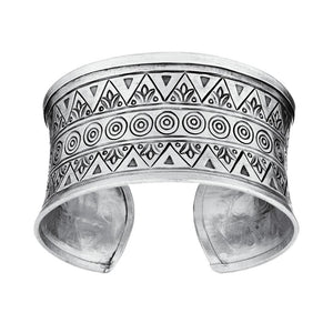 Load image into Gallery viewer, Pure Silver Karen Hill Tribe Patterned Adjustable Bangle