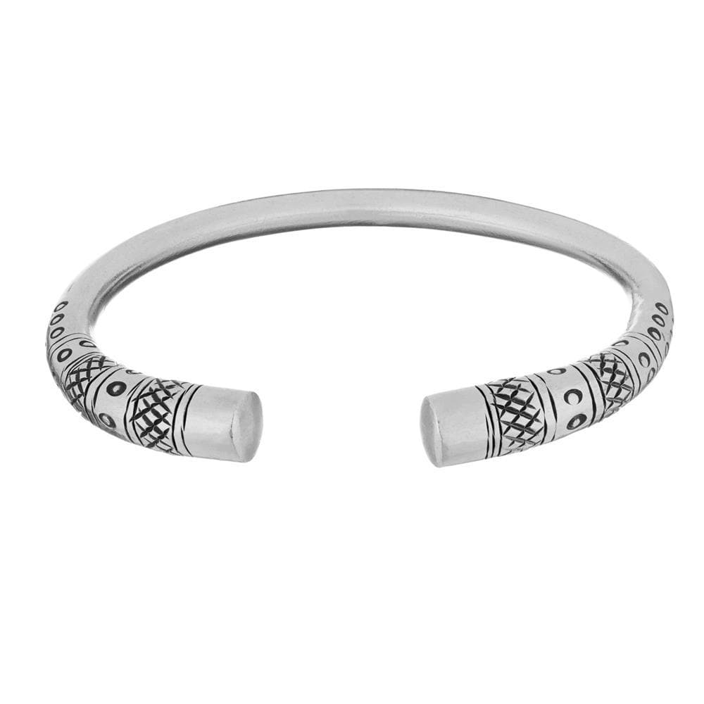 Load image into Gallery viewer, Pure Silver Karen Hill Tribe Detailed Adjustable Bangle