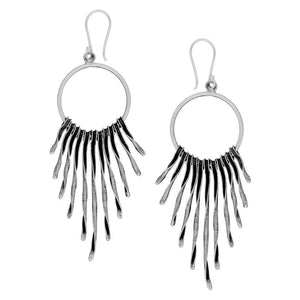 Load image into Gallery viewer, Pure Silver Karen Hill Tribe Multi-Strand Earrings