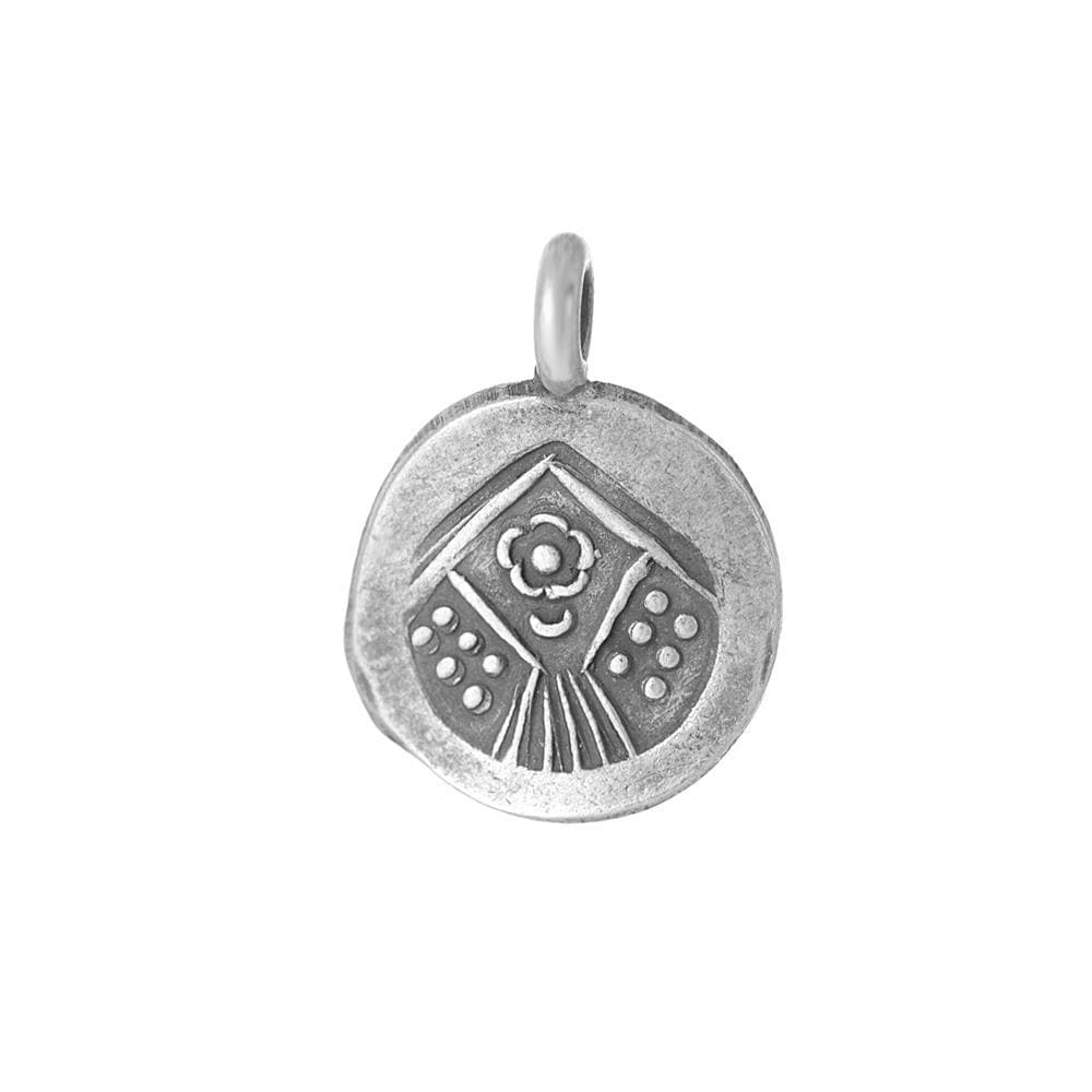 Load image into Gallery viewer, Pure Silver Karen Hill Tribe Round Engraved Pendant