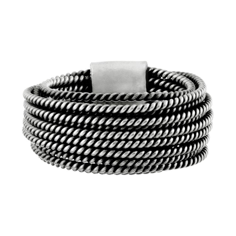 Pure Silver Karen Hill Tribe Multi-Band Twist Rope Ring