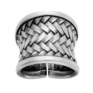 Load image into Gallery viewer, Pure Silver Karen Hill Tribe Woven Adjustable Ring