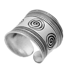 Load image into Gallery viewer, Pure Silver Karen Hill Tribe Engraved Spiral Adjustable Ring