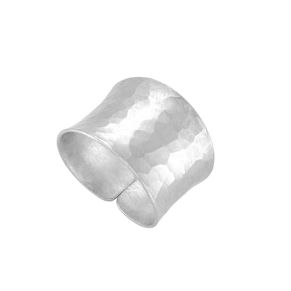 Pure Silver Karen Hill Tribe Hammered Adjustable Ring