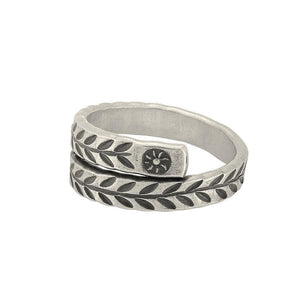 Load image into Gallery viewer, Pure Silver Karen Hill Tribe Overlapping Engraved Ring