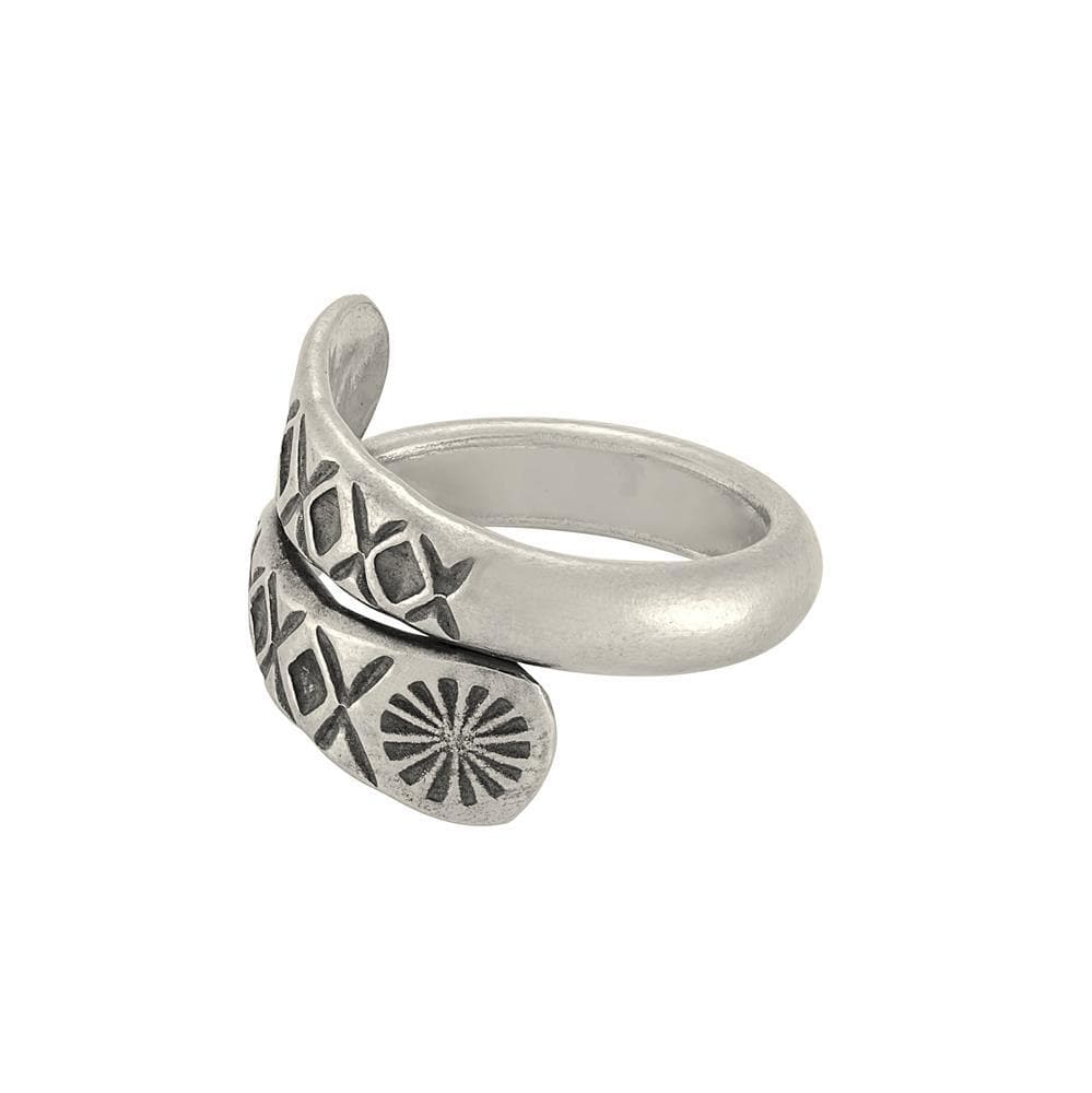 Pure Silver Karen Hill Tribe Wraparound Engraved Ring