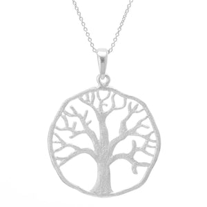 Sterling Silver Celtic Tree Of Life Pendant Necklace