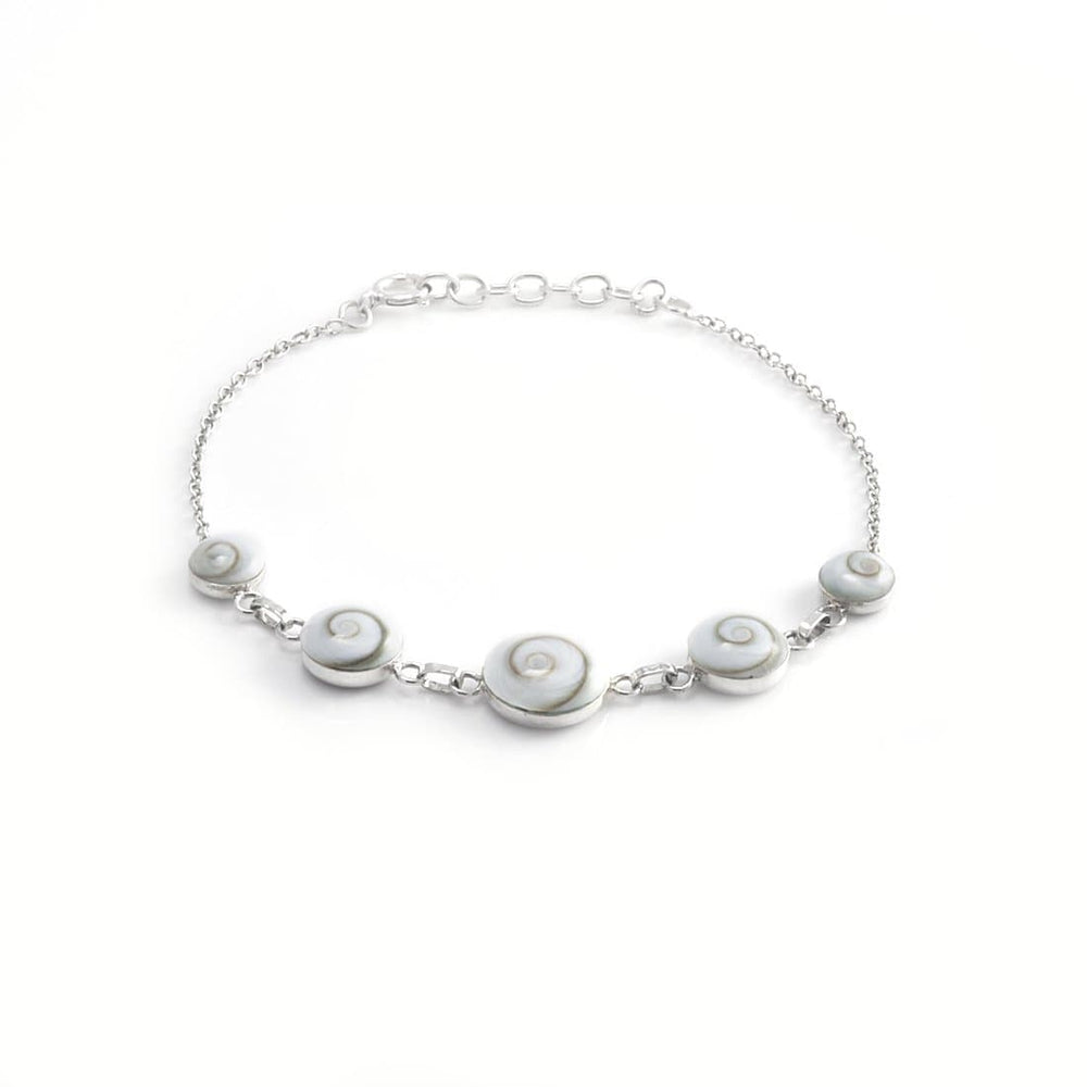 Load image into Gallery viewer, Sterling Silver Shiva Eye Bracelet