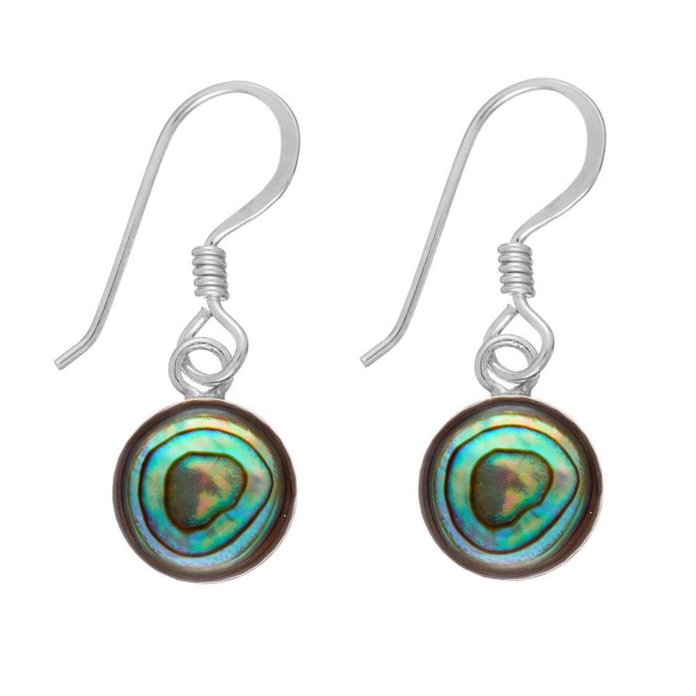 Load image into Gallery viewer, Sterling Silver Abalone Shell Dangle Earrings