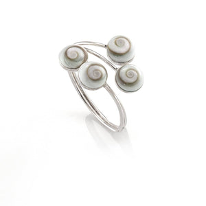 Sterling Silver Shiva Eye Ring - 81stgeneration