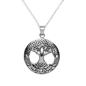 Sterling Silver Celtic Tree of Life Pendant Necklace - 81stgeneration