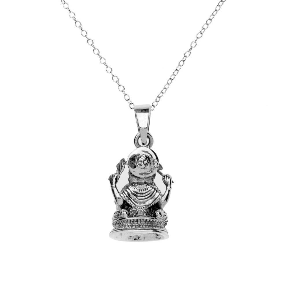 Load image into Gallery viewer, Sterling Silver Ganesh Hindu God Pendant Necklace