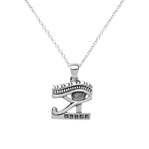 Sterling Silver Eye of Horus Pendant Necklace