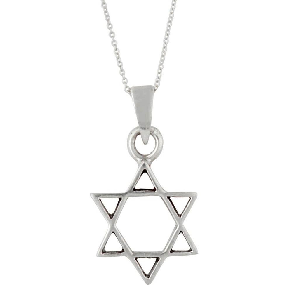 Load image into Gallery viewer, Sterling Silver Star Of David Pendant Necklace