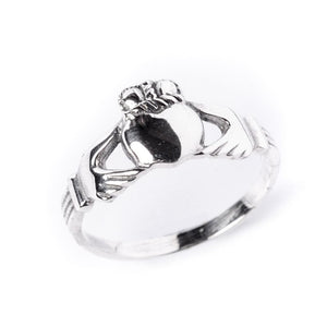 Sterling Silver Claddagh Love Celtic Irish Ring