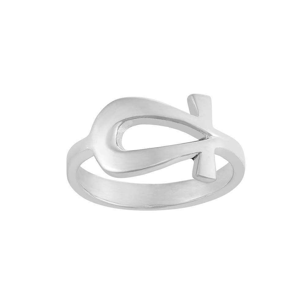 Sterling Silver Ankh Egyptian Cross Ring