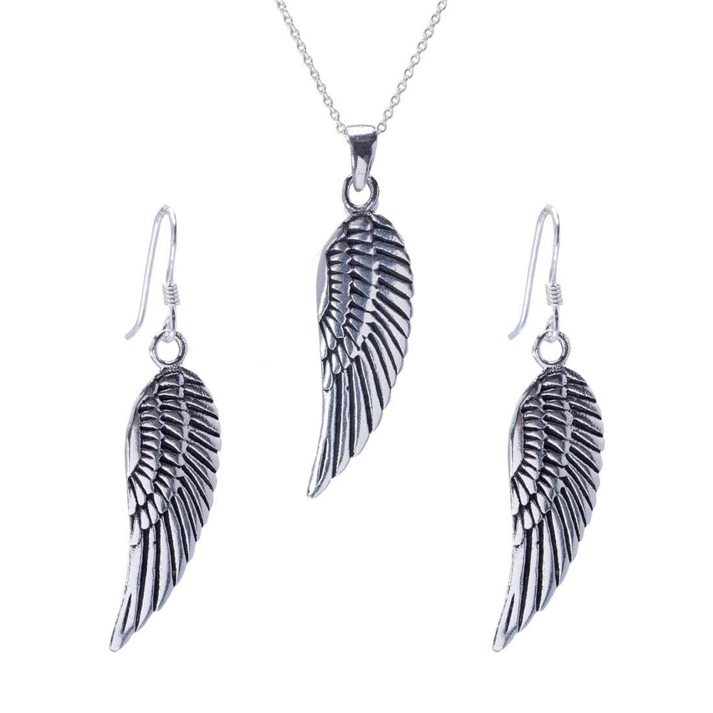Load image into Gallery viewer, Sterling Silver Angel Wing Jewellery Set