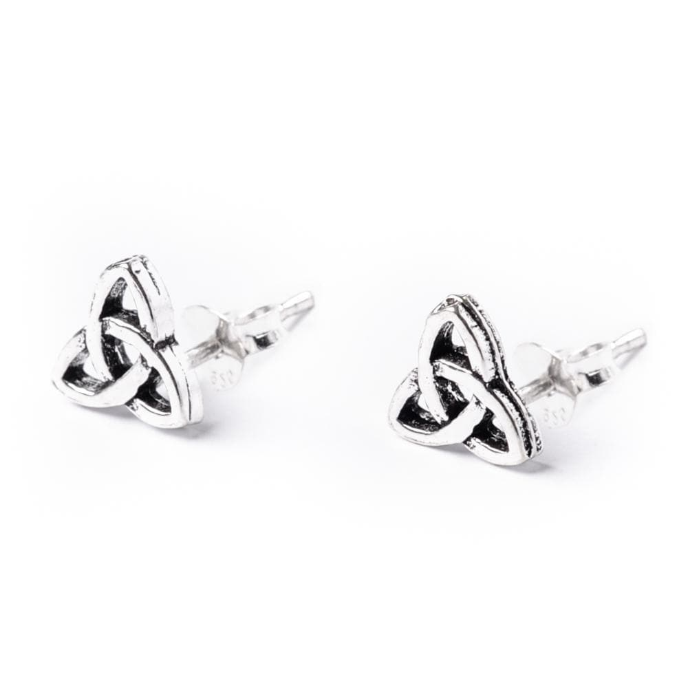 Load image into Gallery viewer, Sterling Silver Celtic Trinity Knot Stud Earrings
