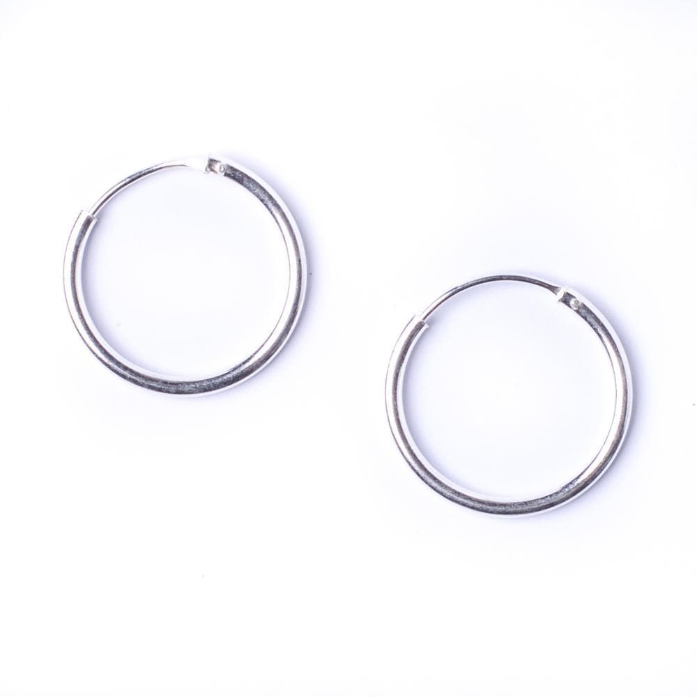 Sterling Silver Round 1.2mm 16 mm Hoop Earrings - 81stgeneration