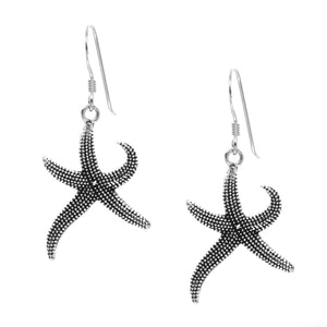 Sterling Silver Starfish Dangle Earrings