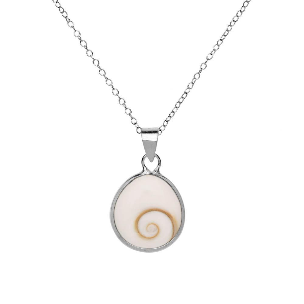 Shiva Eye Teardrop Sterling Silver Pendant Necklace - 81stgeneration
