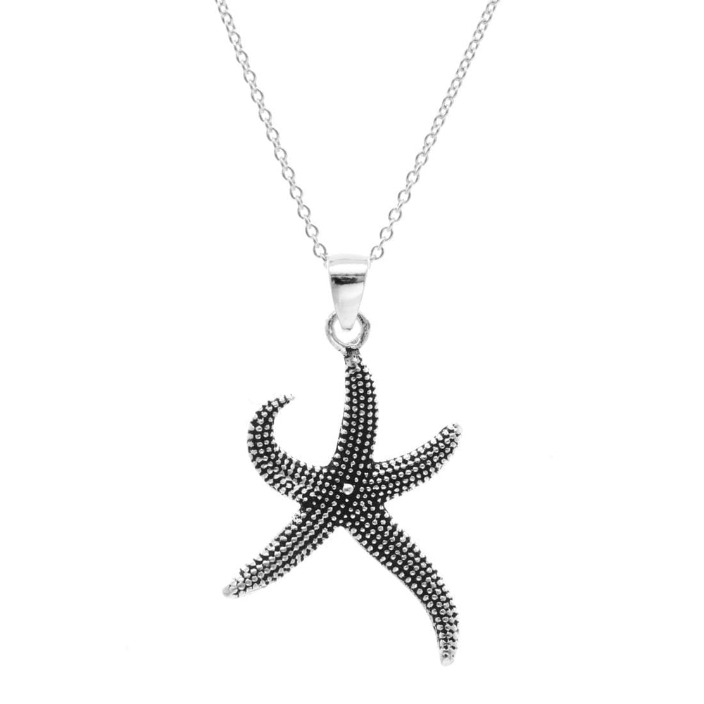 Load image into Gallery viewer, Sterling Silver Starfish Pendant Necklace
