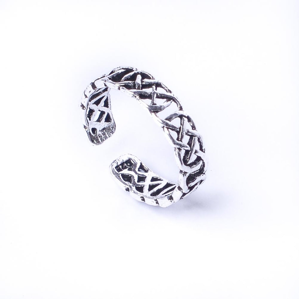 Sterling Silver Celtic Knot Midi Finger Adjustable Toe Ring - 81stgeneration